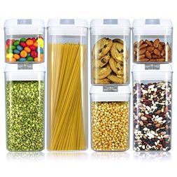 Balchy 7 Piece Set Food Storage Containers - Airtight Leak P