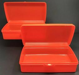 Tupperware Set of 2 Storage Keeper Containers Rectangular Da