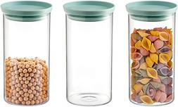 Set of 3 Food Storage Containers Stackable Organization Cani