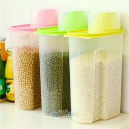 Set of 3 Large Cereal & Dry Food Storage Containers BPA-Free