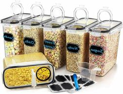Large Cereal Dry Food Storage Containers  Set of 6 4L 135.3o