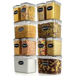 Set of 8 Cereal & Dry Food Storage Container  + 1 Measuring.
