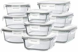 Set of 9 Pack Pyrex Glass Food Storage Meal Prep Containers