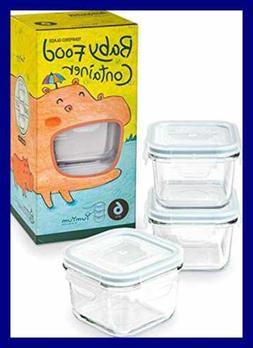 Glasslock 6pcs Set Yum Yum Eco Friendly Airtight Spill Proof