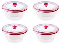 Collapse it Silicone Food Storage Containers 4 Piece Clear B