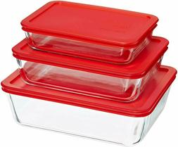 Pyrex Simply Store Glass Rectangular Food Container Set with