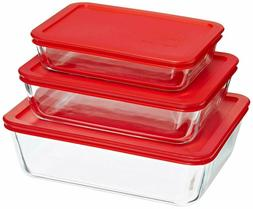 simply store glass rectangular food container set
