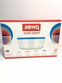 Pyrex Simply Store Glass Storage Tupperware Set W/ Lids 12 p