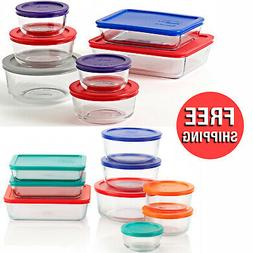 Simply Store Meals Prep Glass Bowls Food Storage Containers