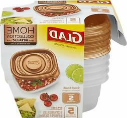 Glad Small Rectangle Food Storage Containers,  -5 Count, Hom