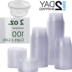 Small Sauce Containers Lids Disposable Salad Dressing Cups P