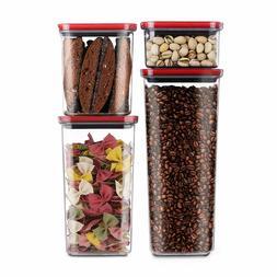 Smart Seal Airtight Food Storage Container, 4 Piece Set, Mod