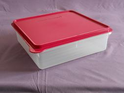 "Tupperware snack stor store container 8 x 8"" bars cookies tr"