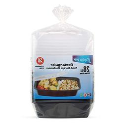 Snap Pak 12010 Storage Containers 28 oz. Clear Lid/Black Bas