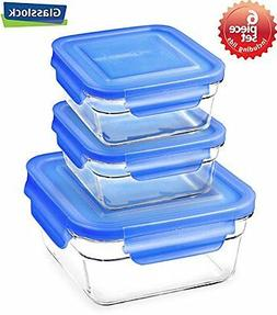 Snaplock Lid Tempered Glasslock Storage Square Containers 3p