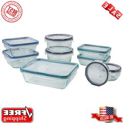 Snapware Pyrex 18 piece Glass Food Storage Set Airtight, Lea