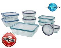 Snapware Pyrex 18-piece Glass Food Storage Set, Airtight, Le