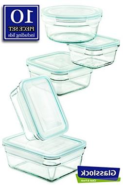 Snapware Glasslock Glass Storage Containers with Lids 10pc S