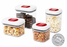 Internet's Best Spin Lock Airtight Canisters   Set of 4   2