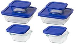 Pyrex Square Glass Food Storage Container set. Used For Baki