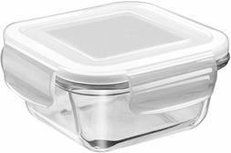 Square Glass Storage Container Milton Saver 665 ml microwave