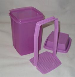 Tupperware Large Square Pick-a-Deli Container in Lavender Pu