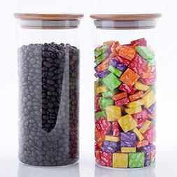 Stackable Glass Food Storage Jars With Airtight Lids, Bulk F
