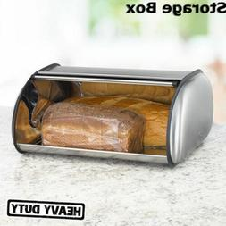 Stainless Steel Bread Box Storage Keeper Food Container Kitc