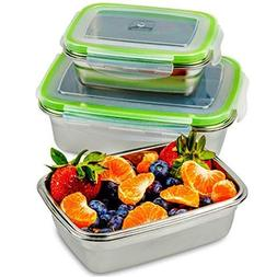 JaceBox Stainless Steel Lunch Containers - Lunch Box Contain