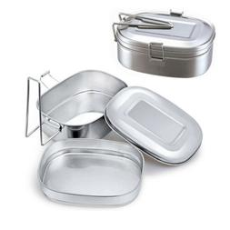 Stainless Steel Lunch Box Bento Food Container Storage For T