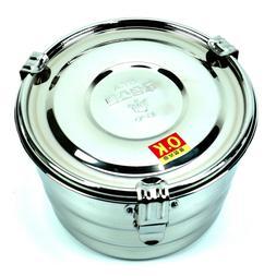GS Stainless Steel Round Airtight Kimchi Food Storage Contai