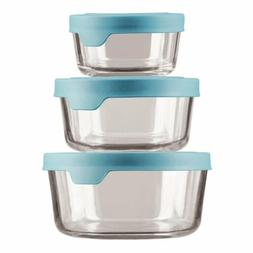 Anchor Hocking TrueSeal Glass Food Storage Containers with M