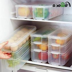 Storage Box Plastic Food Containers With Lid For Kitchen Fri
