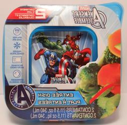 Storage Container Marvel AVENGERS Entree Dish 2 Piece Lunch