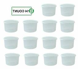 Round Deli Food Storage Containers Plastic Reusable Clear -