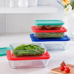 Pyrex Store Glass Rectangular Food Storage Containers Set Re