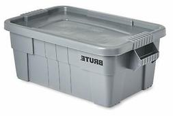 strong storage Rubbermaid Commercial Brute Tote with Lid 14-