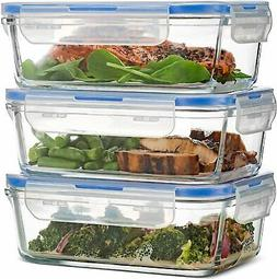 Superior Glass Containers Food Storage Leak Proof Lids Freez