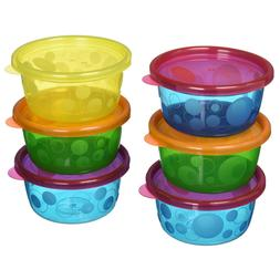The First Years Take & Toss Bowls with Lids 9+ Months 6CT