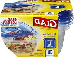 GladWare Tall Entrée Food Storage Containers, Large Square