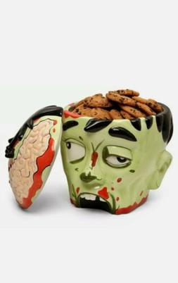ThinkGeek Large Zombie Head Ceramic Cookie Jar NEW