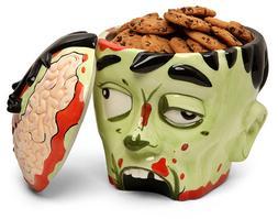 Thinkgeek Zombie Head Cookie Jar NIB