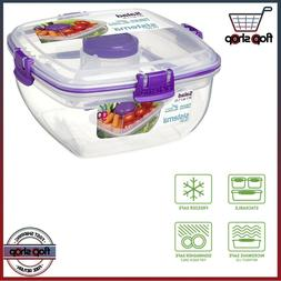 Sistema To Go Lunch Salad Food Storage Container, 37 oz./1 L