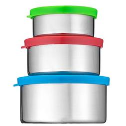 Bruntmor Trio Nesting 18/8 Stainless Steel Food Containers w
