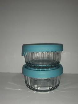Anchor Hocking TrueSeal Embossed Glass Food Storage Containe