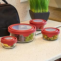 Anchor Hocking 12920ECOM TrueSeal Set with Red Lids, Cherry