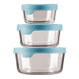 TrueSeal Glass Food Storage Containers with Mineral Blue Air