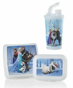 Tupperware Disney's Frozen Lunch Set ~Sandwich Box/Tumbler/P