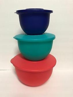 Tupperware Impression Classic Bowl Set of 3 Multi Colors 201