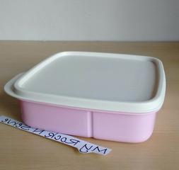 Tupperware Lunch Square Divided Packette Lunch Box Pastel Pi